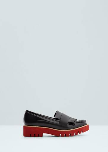 dd0e61e4d1c Contrast platform shoes - Woman