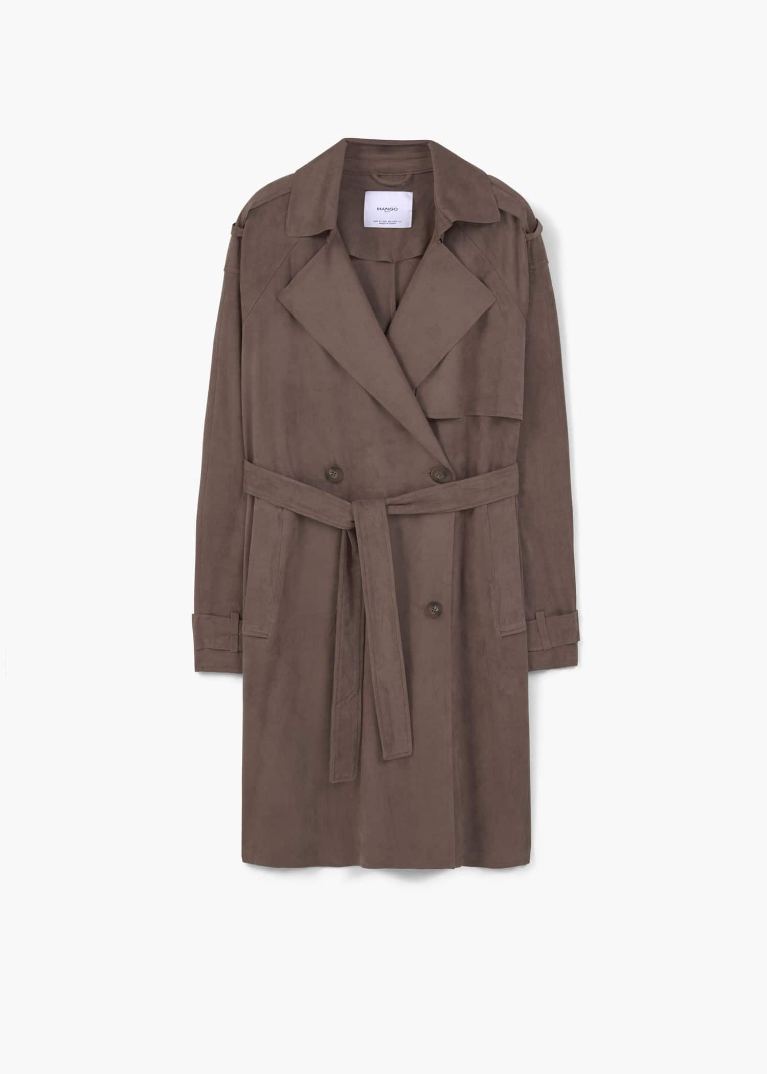 Double breasted trench Women | Mango USA