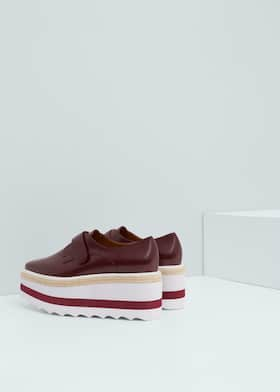 75b6d670152 Chaussures plateforme contrastante