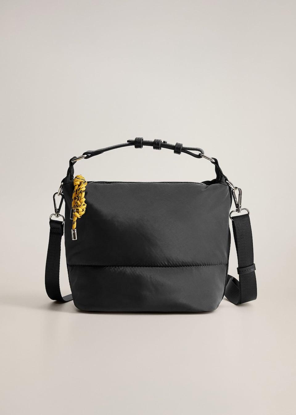 Tissu De La Reunion sac porté croisé tissu technique - femme | mango france (la
