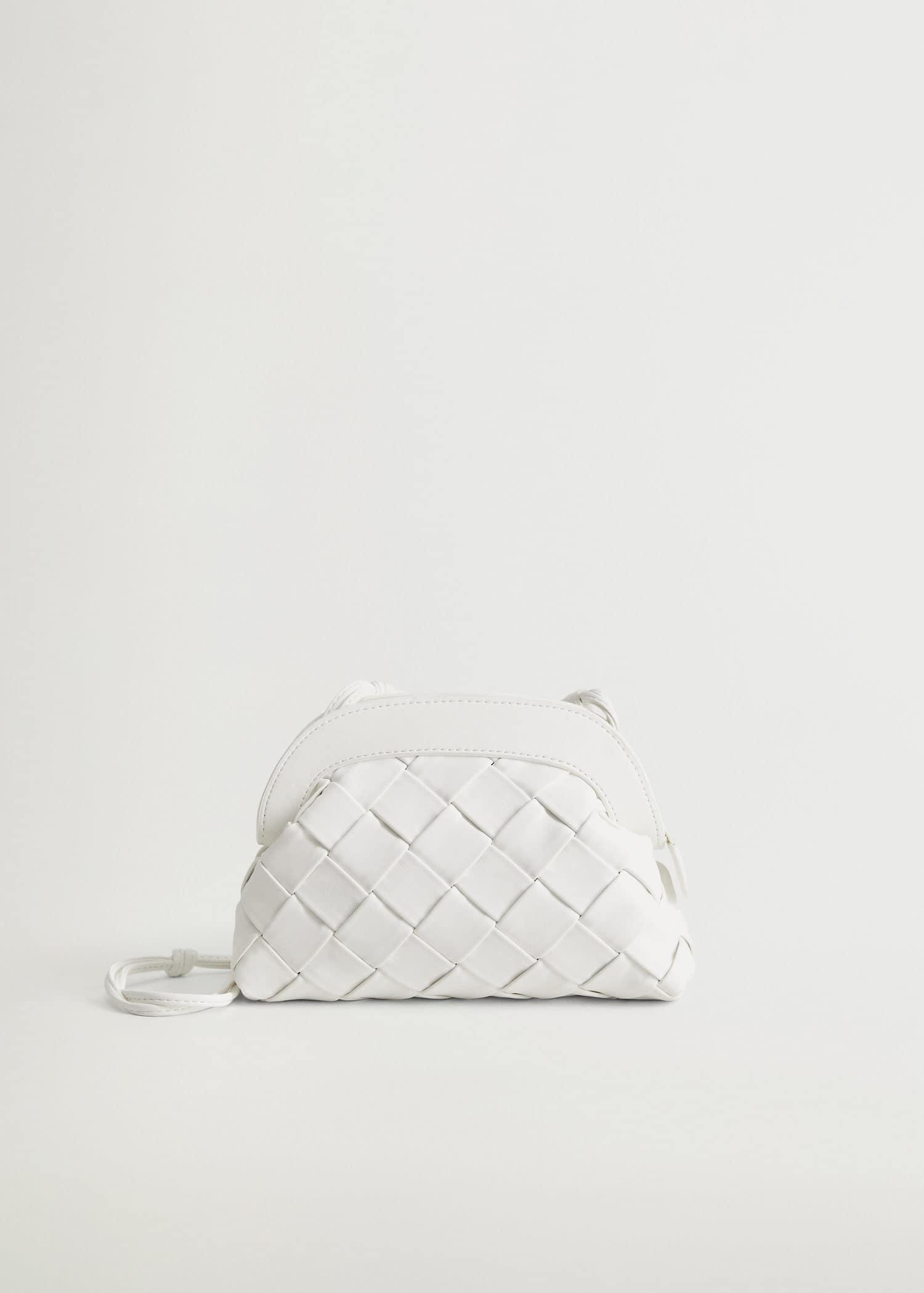 Bolso diseño trenzado Mujer   Mango España