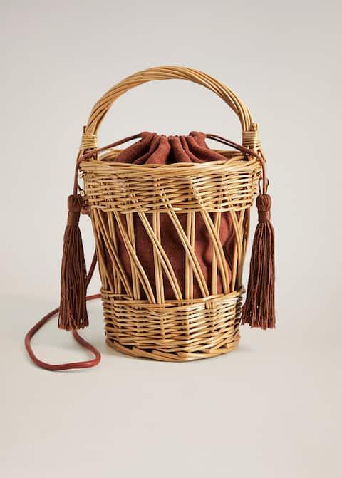 Wooden basket bag - Article without model