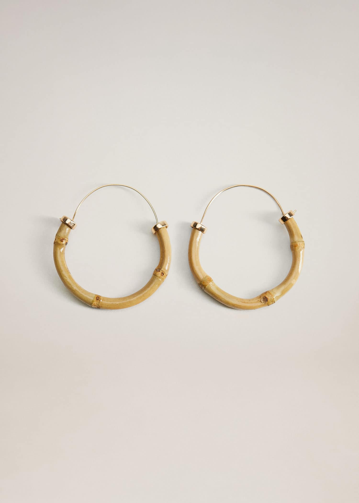 Bamboo hoop earrings - Article without model