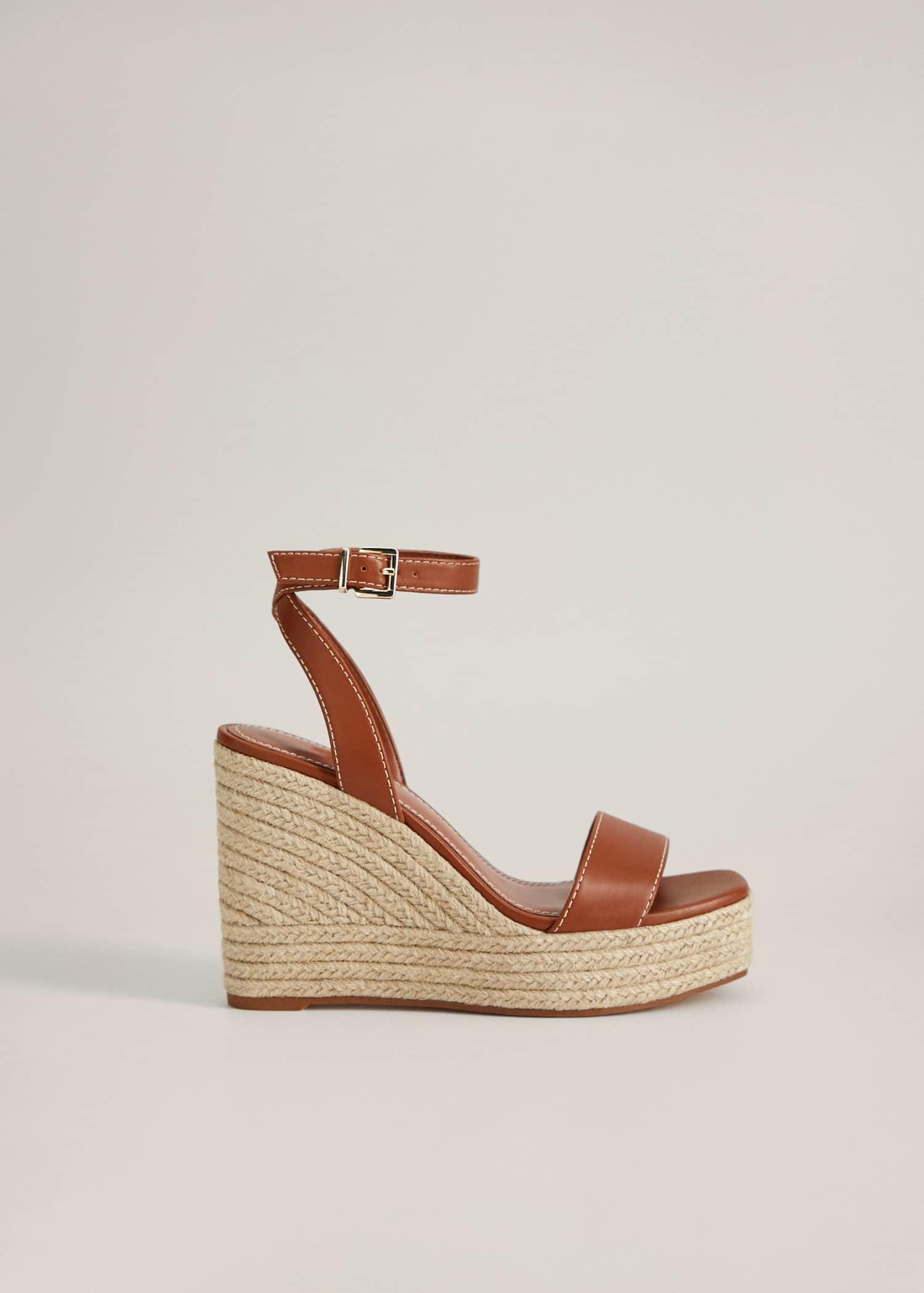 Sandales compensées boucle Femme | Mango France