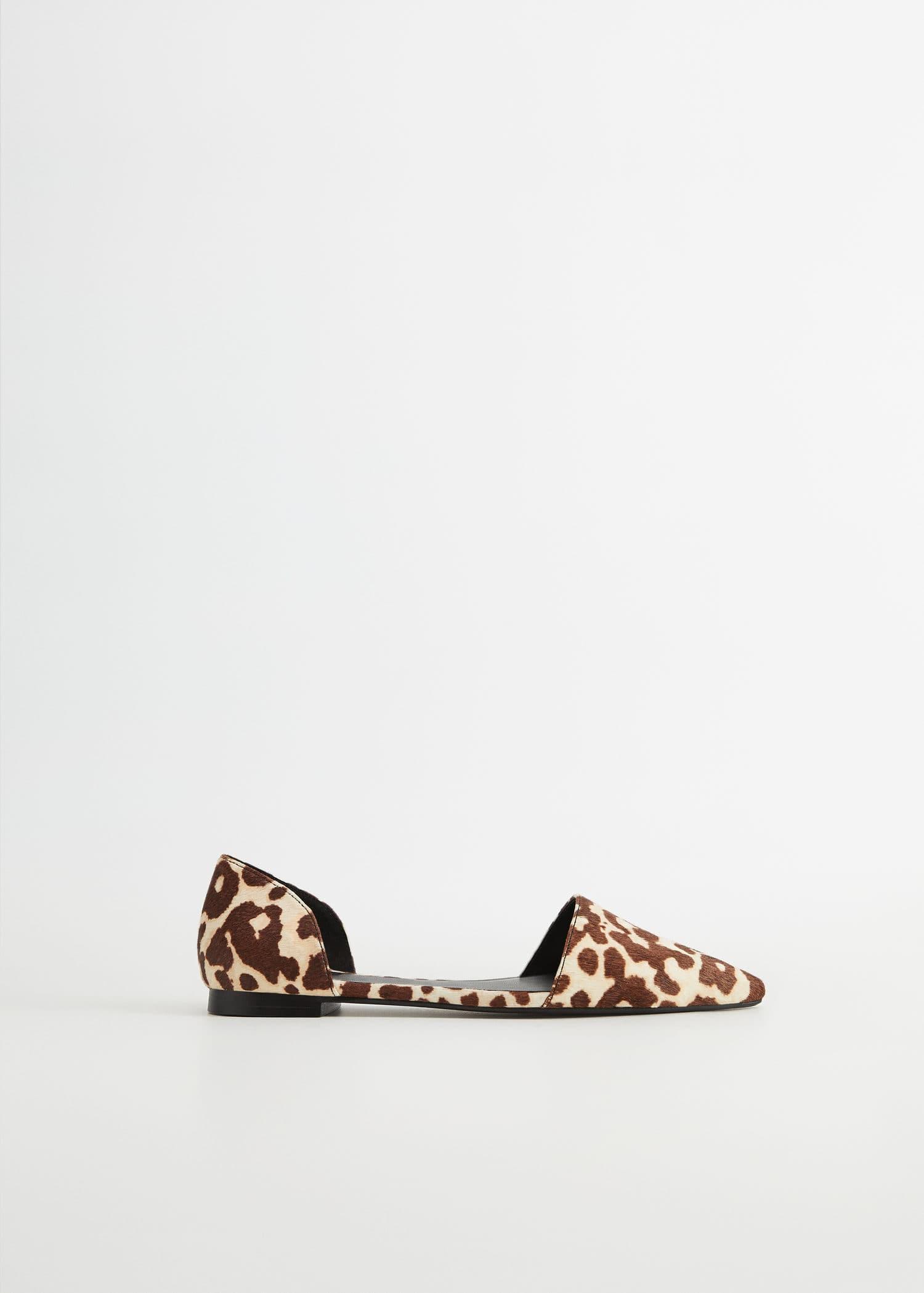 Animal print leather shoes - Plus sizes