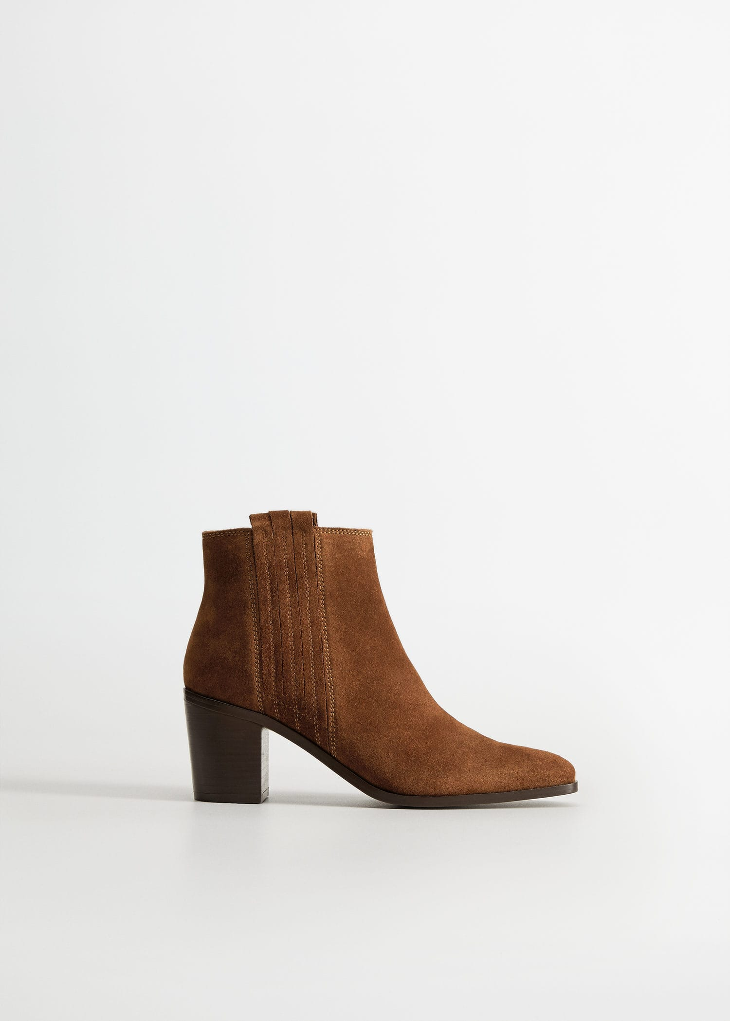 Leather western ankle boots - Women