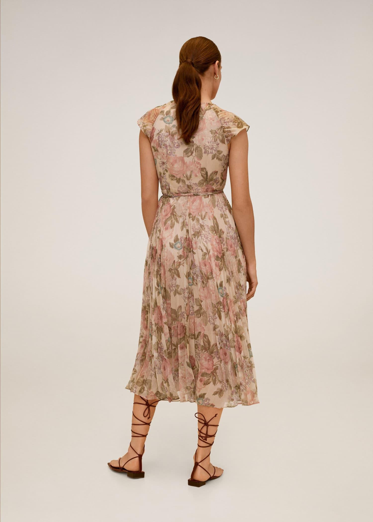 Kleid IN WEAR Wickel Optik schwarz natur beige Gr M L