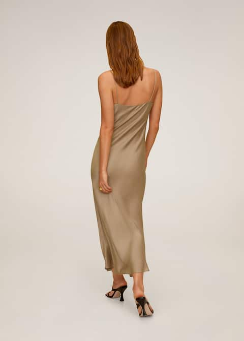 Φόρεμα ντεκολτέ ντραπέ - Πίσω όψη προϊόντος