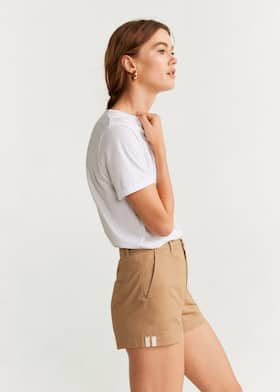 Pockets cotton shorts - Details of the article 2