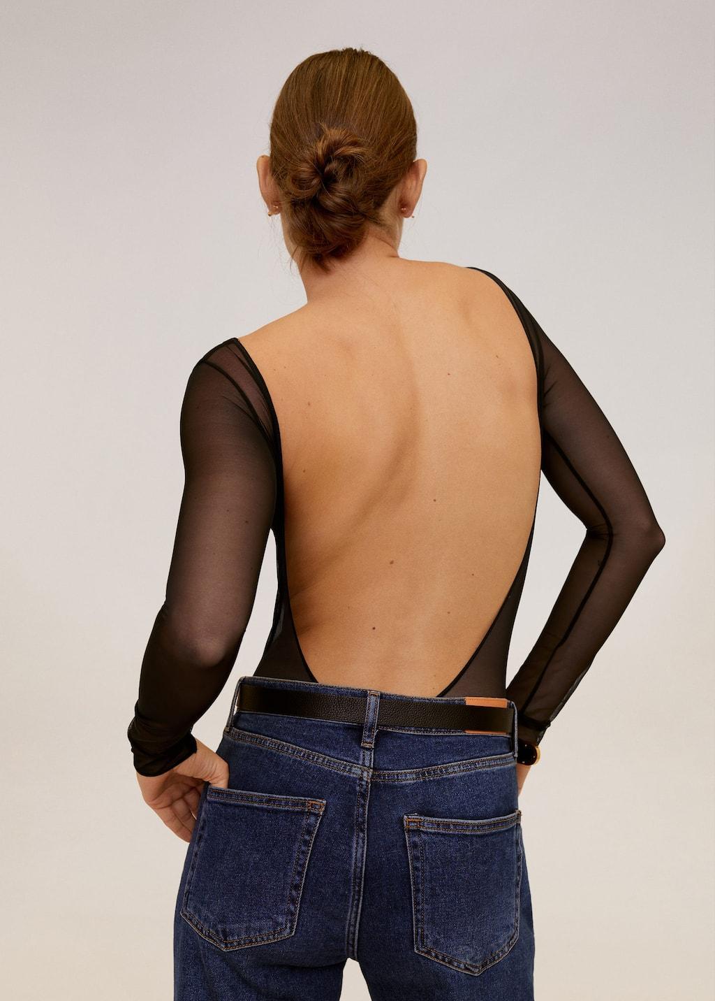 Body mit rückwärtigem Ausschnitt - Rückseite des Artikels