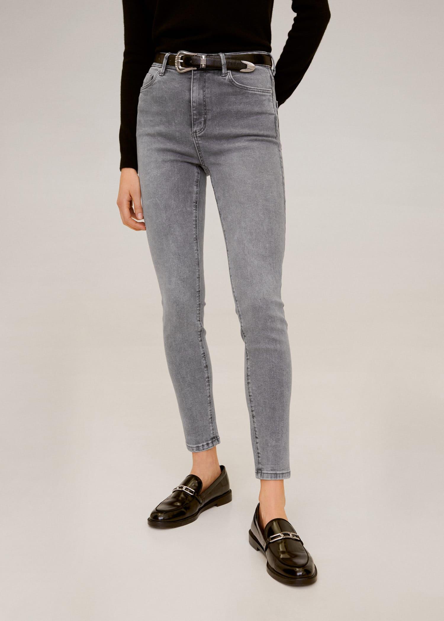 Jean skinny taille haute noa Femme | Mango France