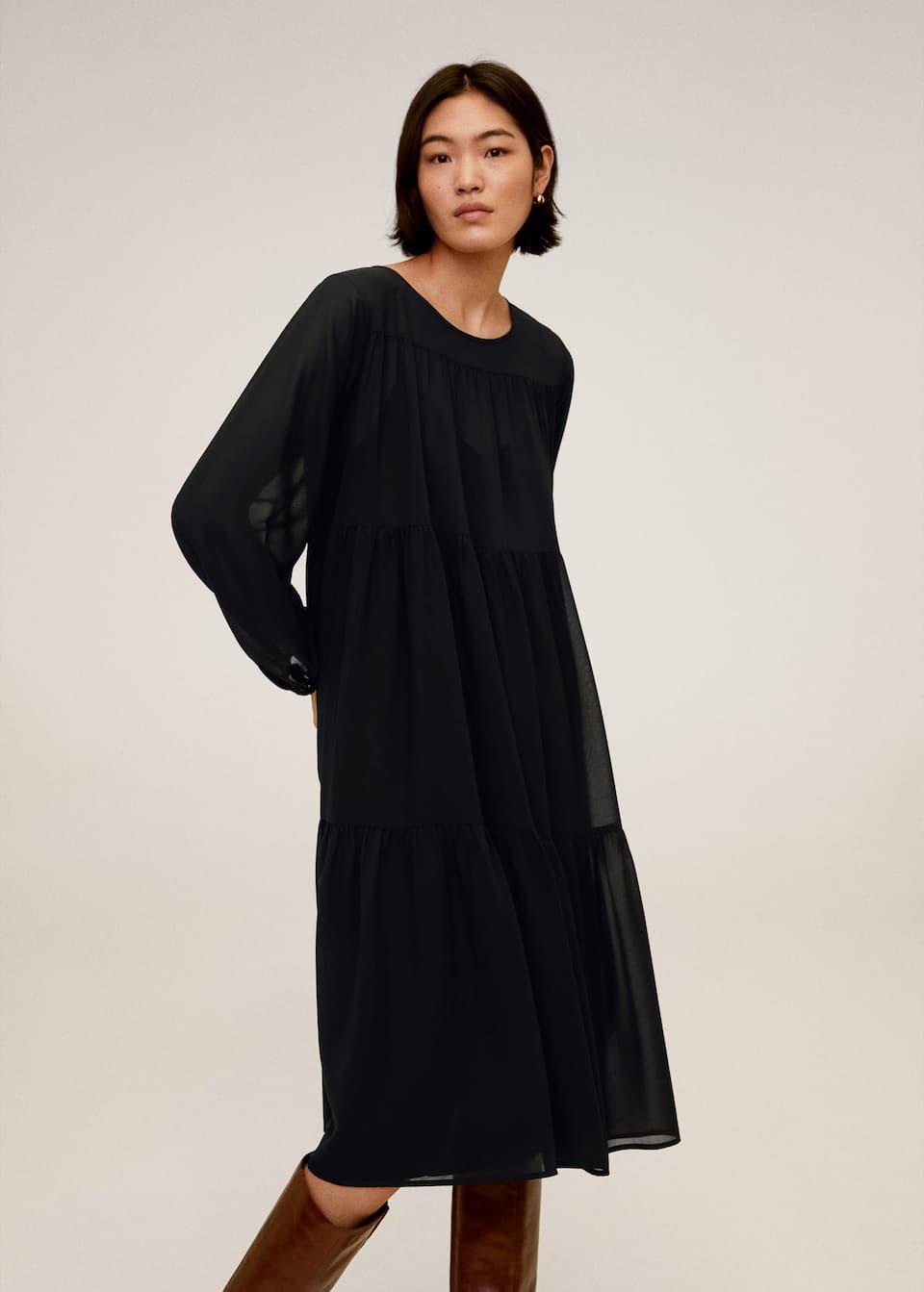 flowy midi dress - women | mango united kingdom