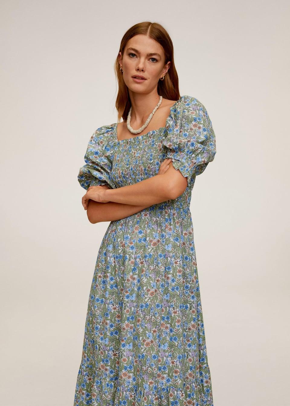 Langes, bedrucktes kleid   Damen   Mango Deutschland
