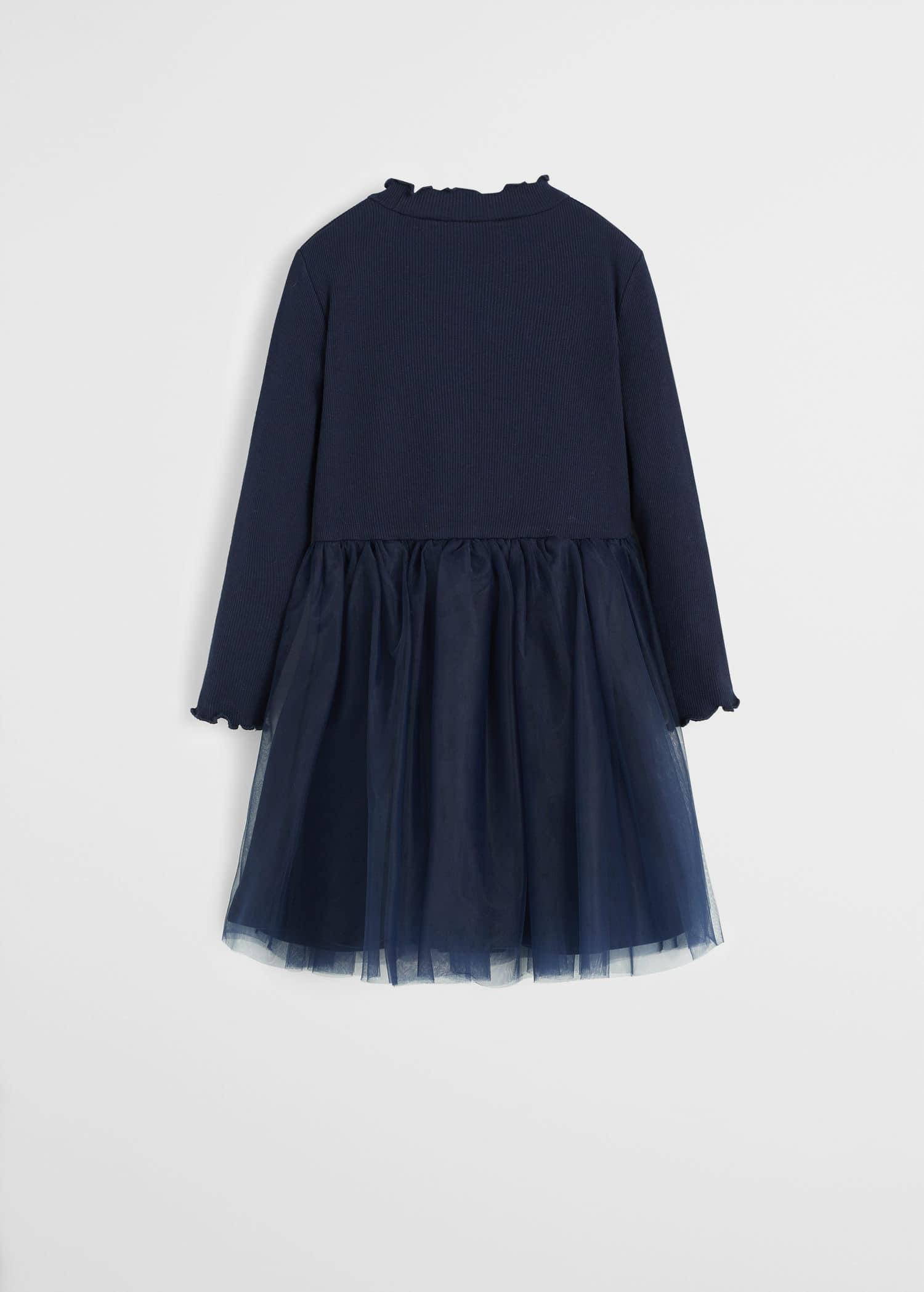 Krótka sukienka z tiulową spódnicą Dziewczynka | Mango