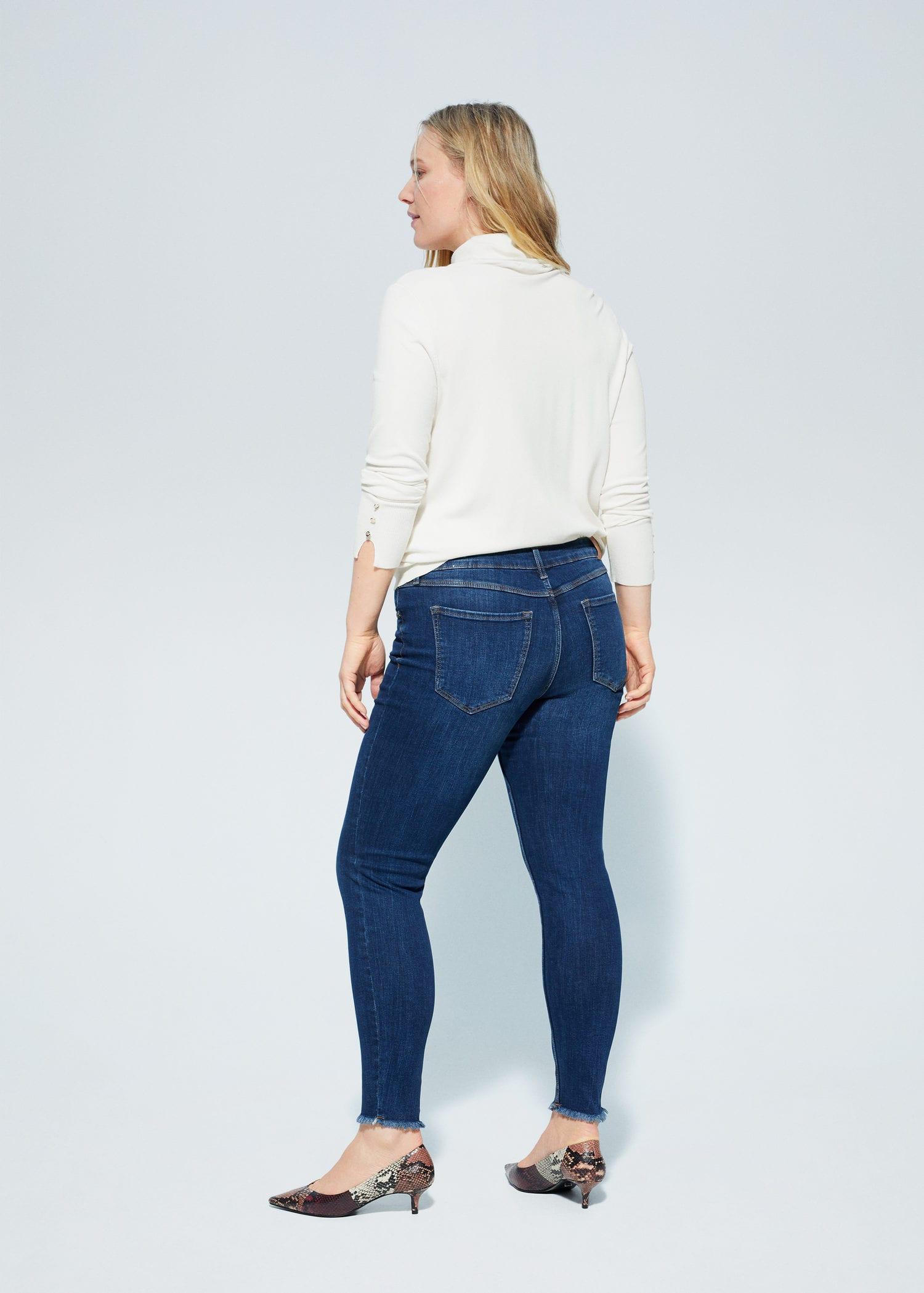 Violeta By Mango Slim Fit Jeans Jullie Mittelblau