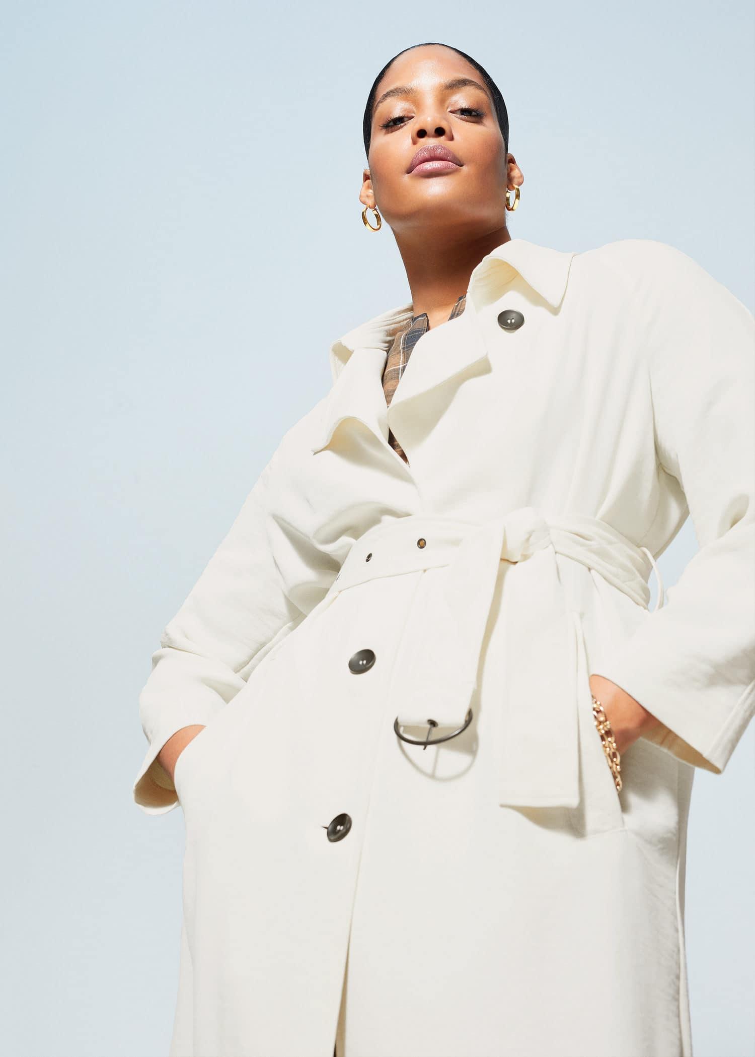 Faux fur padded coat Plus sizes | Violeta by MANGO Croatia