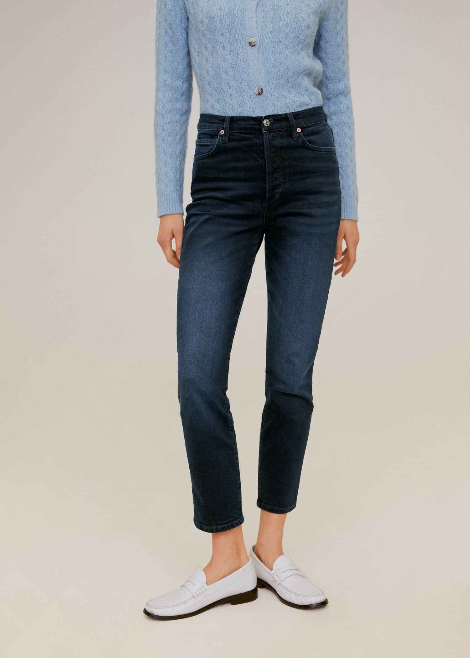Jean taille haute slim gisele Femme | Mango France