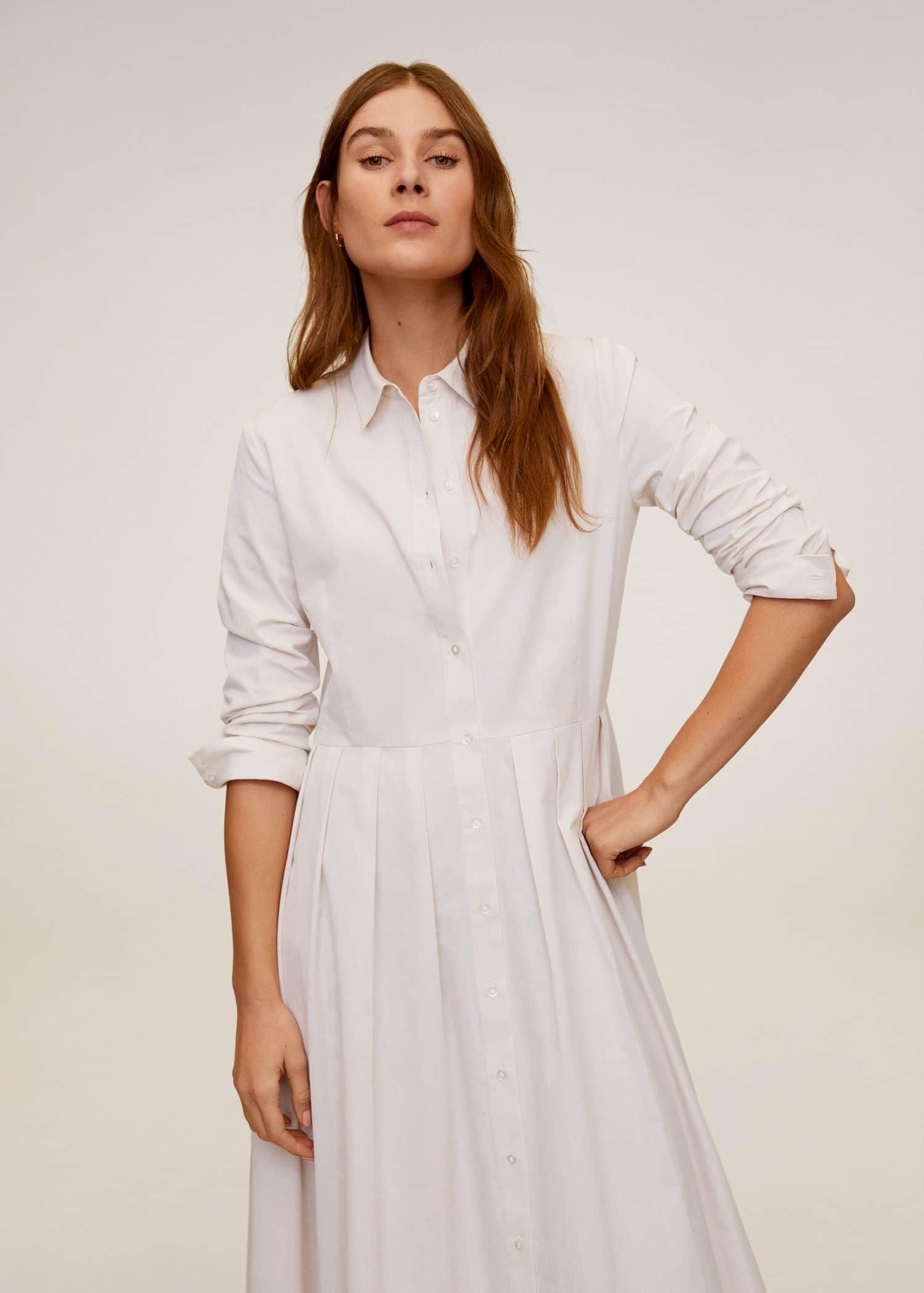 Cotton shirt dress - Women   Mango United Kingdom