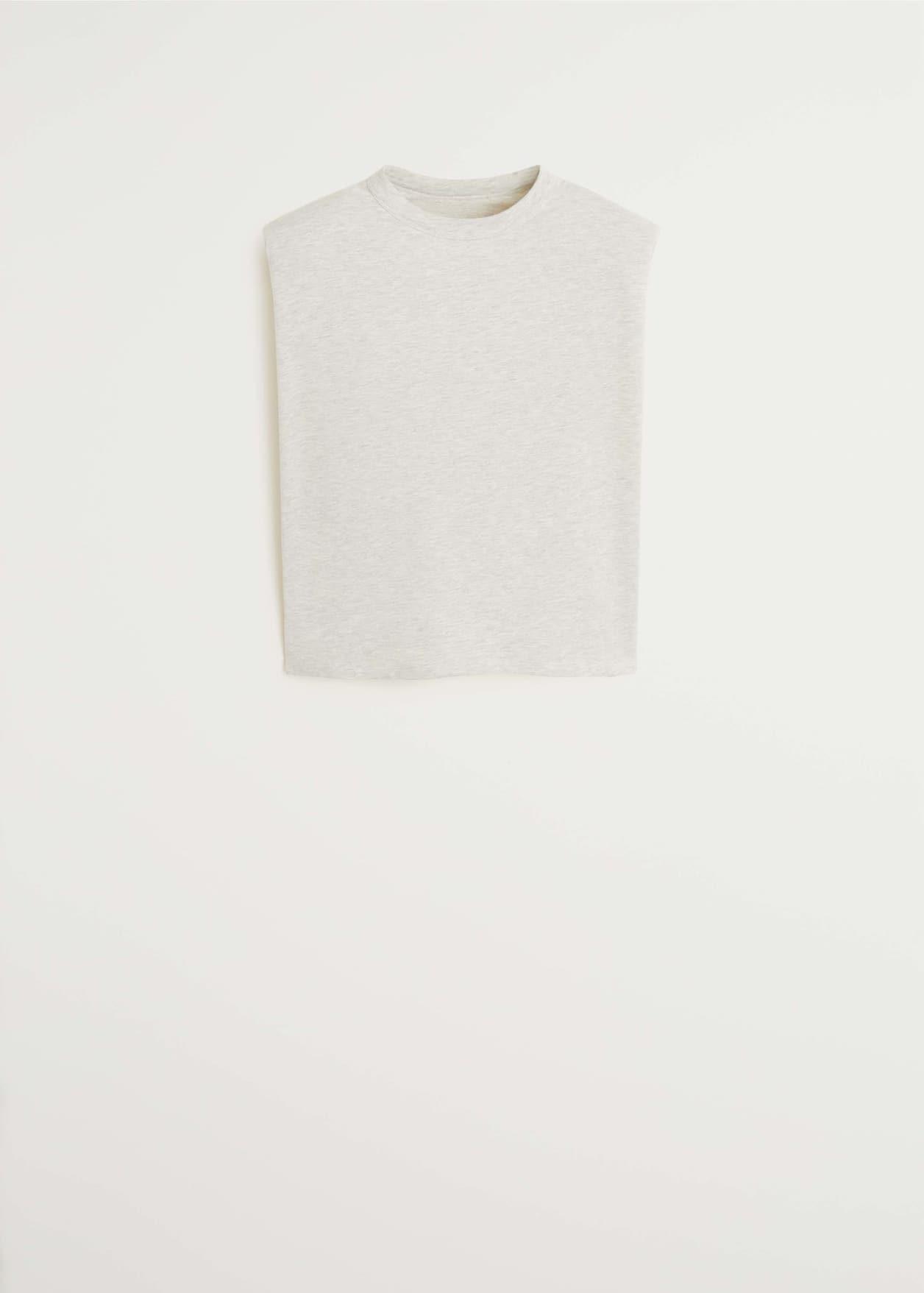 Baumwoll-T-Shirt mit Schulterpolster - Artikel ohne Model