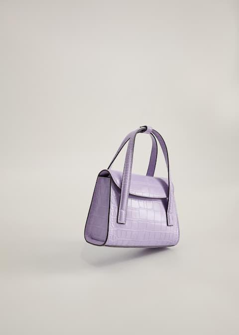Croc-effect mini bag - Medium plane