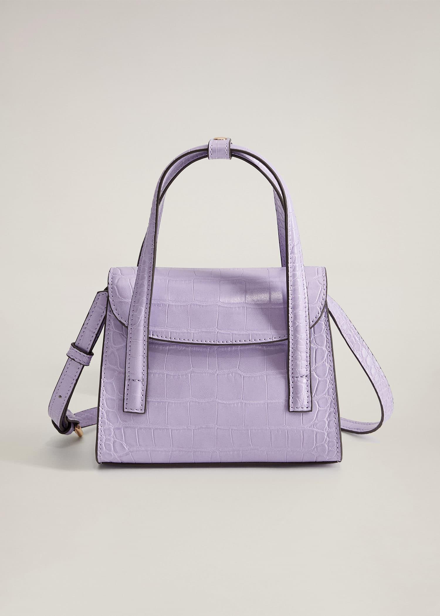 Mini-Tasche mit Kroko-Effekt - Artikel ohne Model