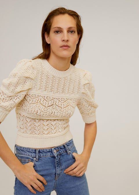Openwork cotton sweater - Medium plane
