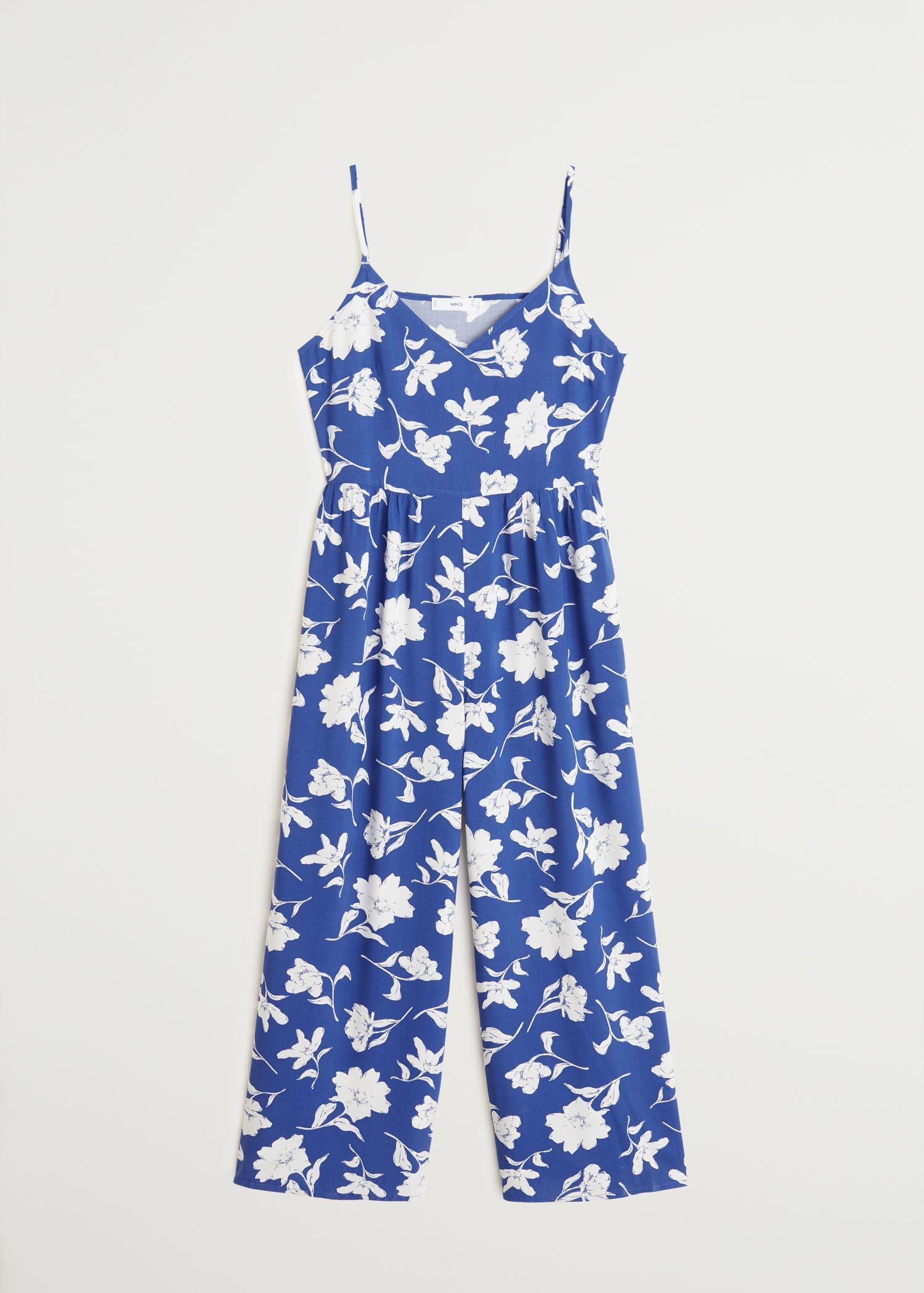 MANGO Casual Playsuit Blue Patterned Size XS,S,M,L