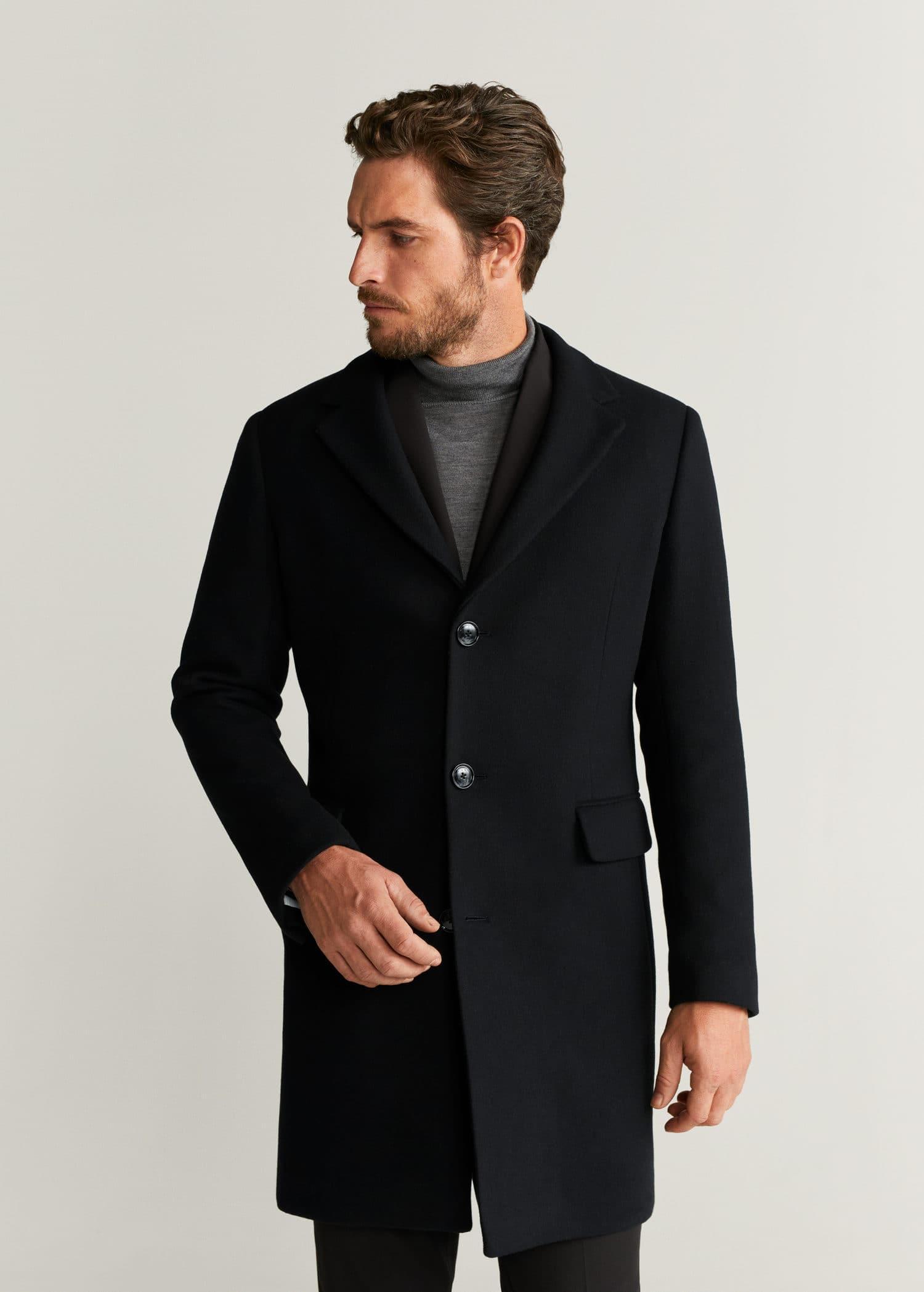 Manteau tailored laine revers Homme | Mango Man France