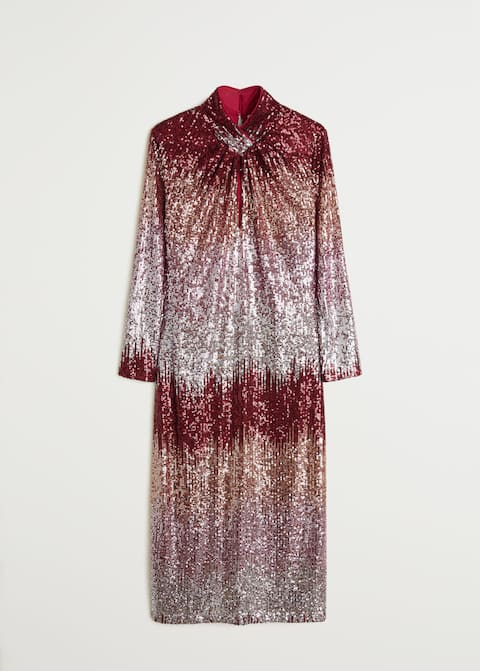 Sequined midi dress - Article without model