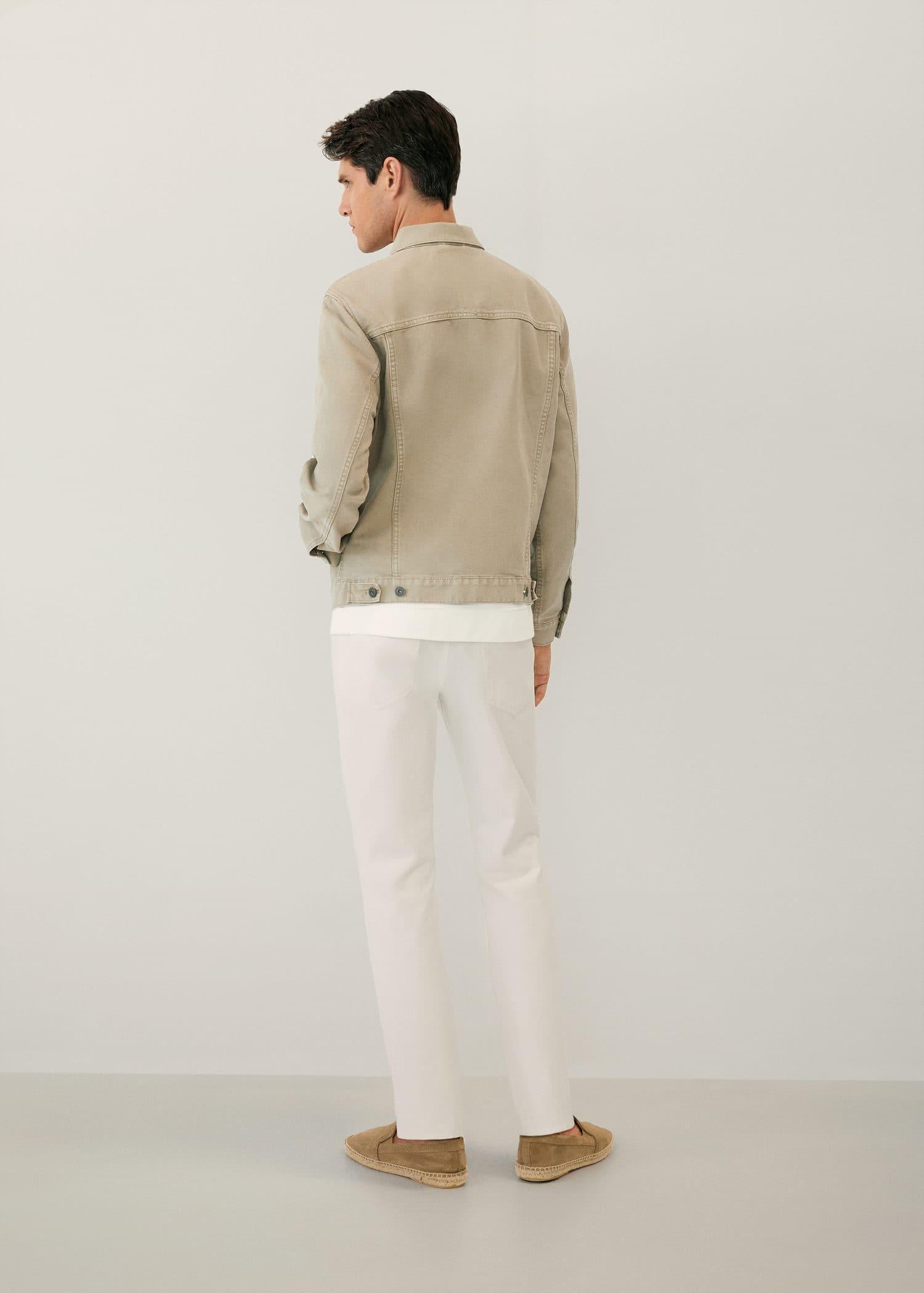 Beige spijkerjack Heren | Mango Man Nederland