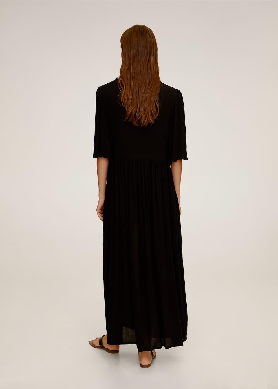 pearl neck dress - woman | mango gibraltar