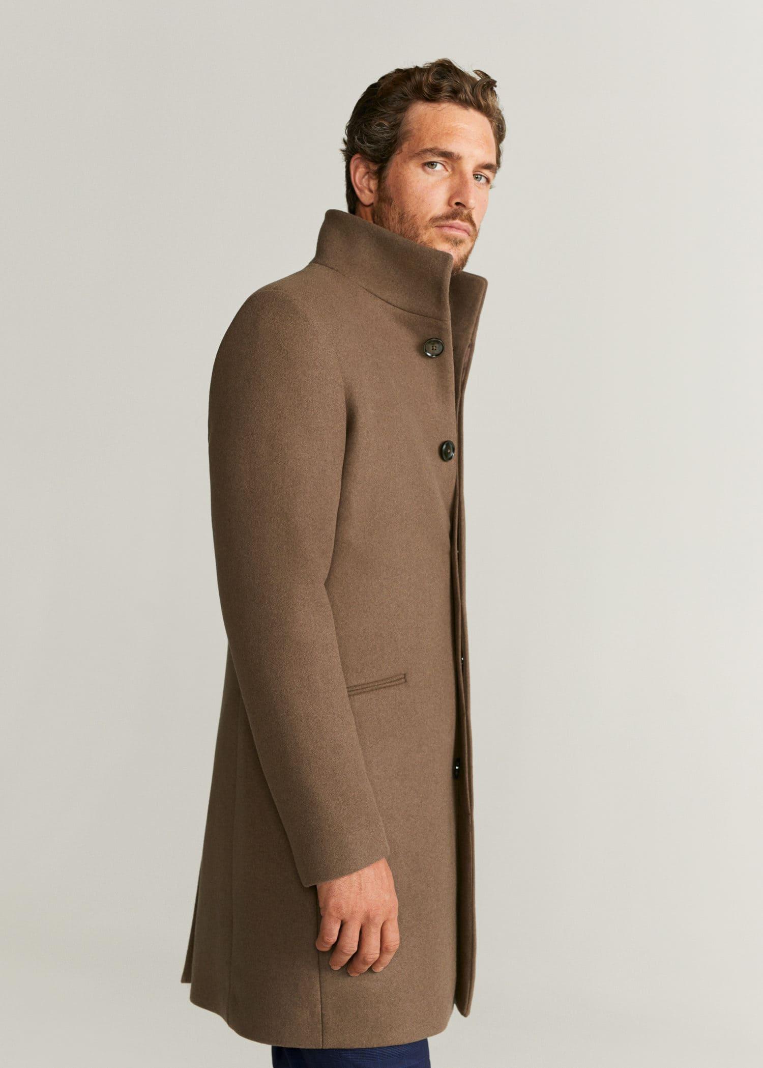 abrigo chaqueta mango hombre