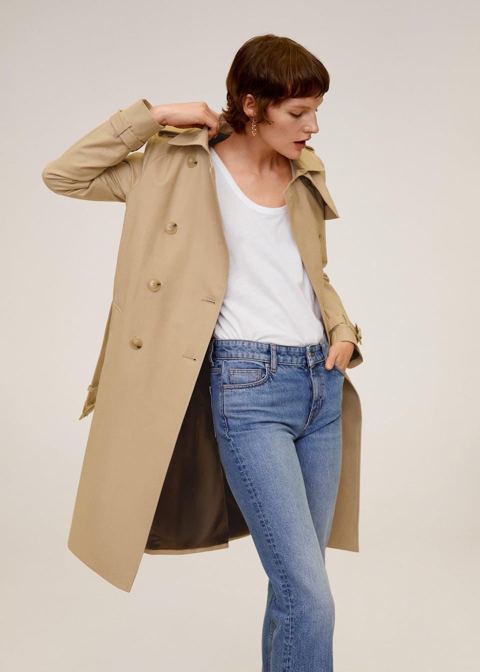 Classic cotton trench coat - Medium plane