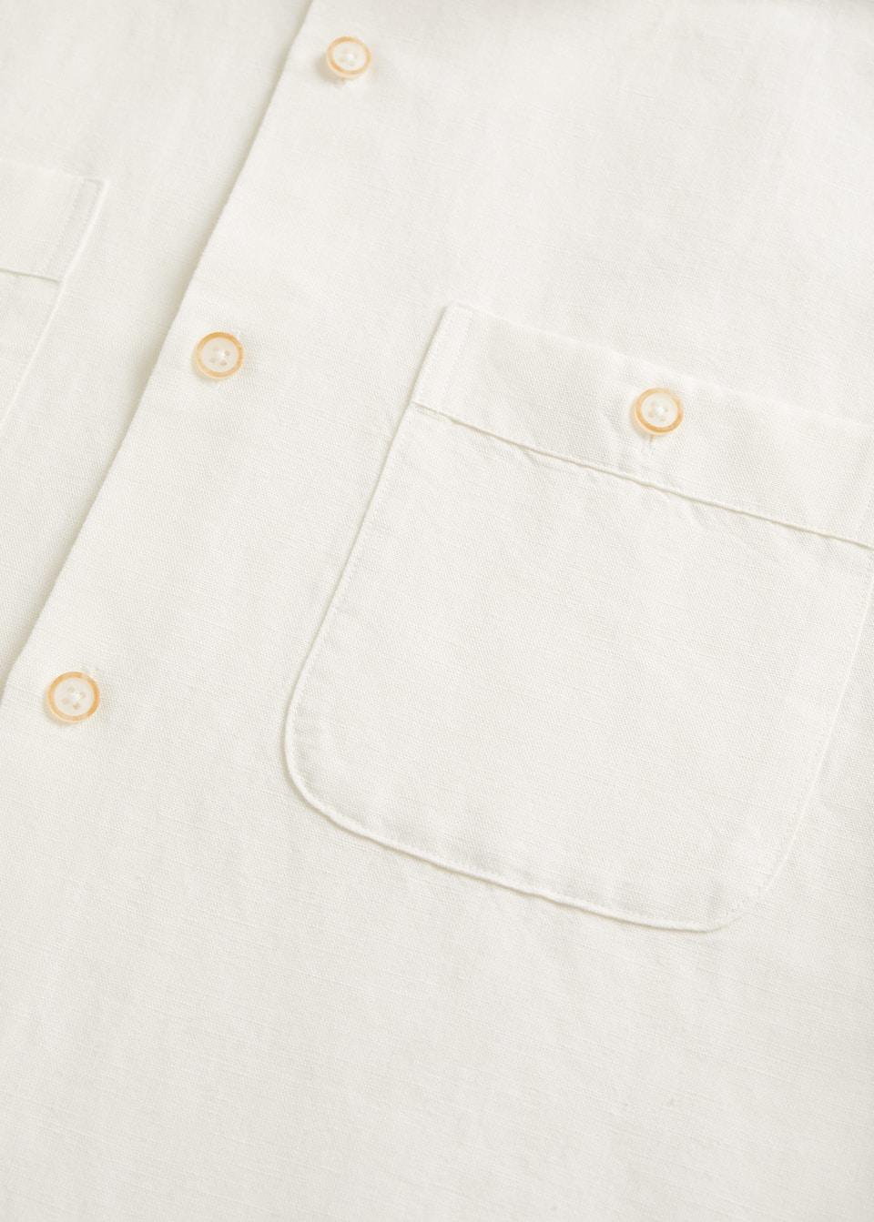 Come Lavare Il Lino guayabera-skjorta linne/bomull - herrar | mango man sverige