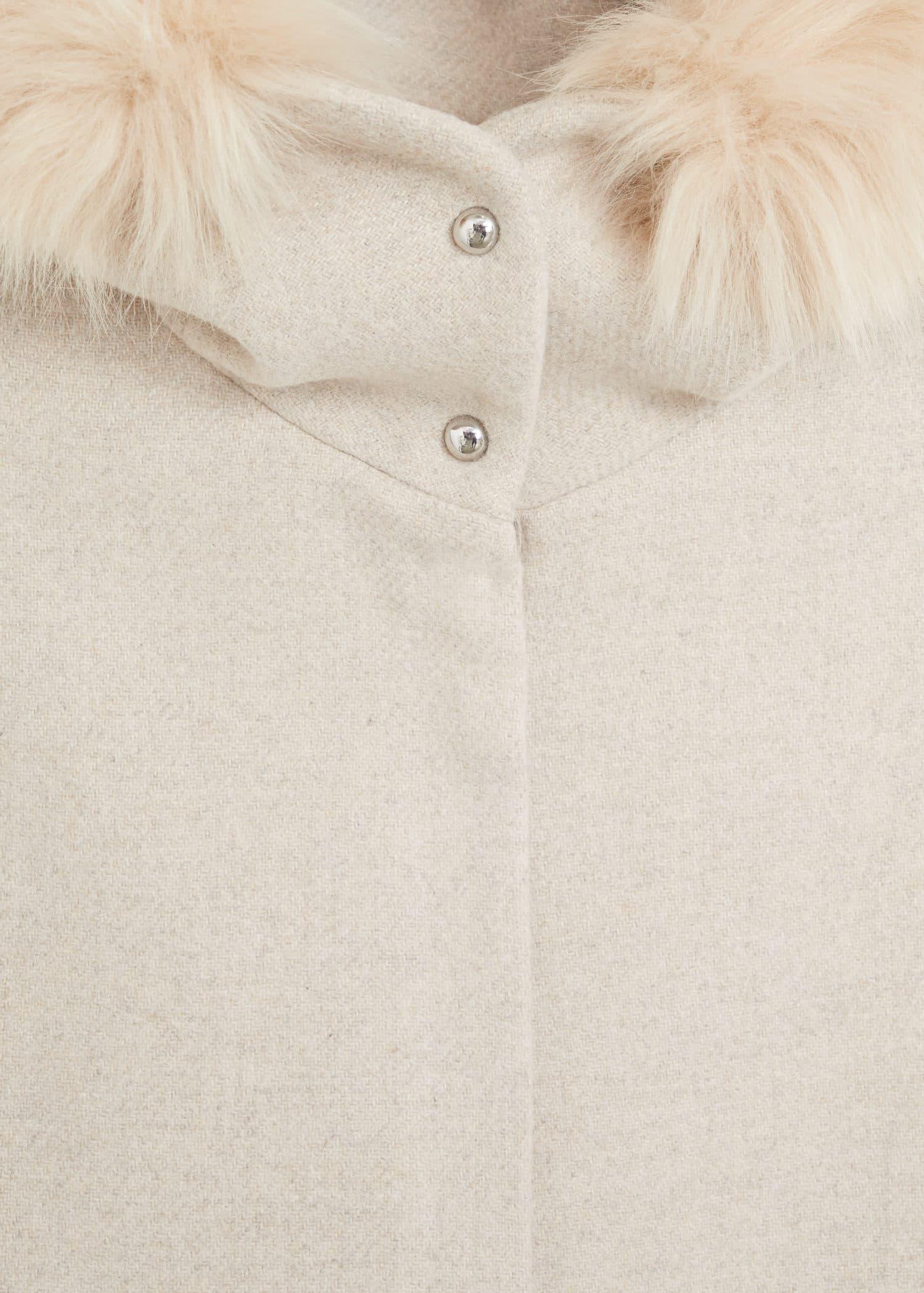 Mantel mit fellkapuze Damen | Mango Österreich