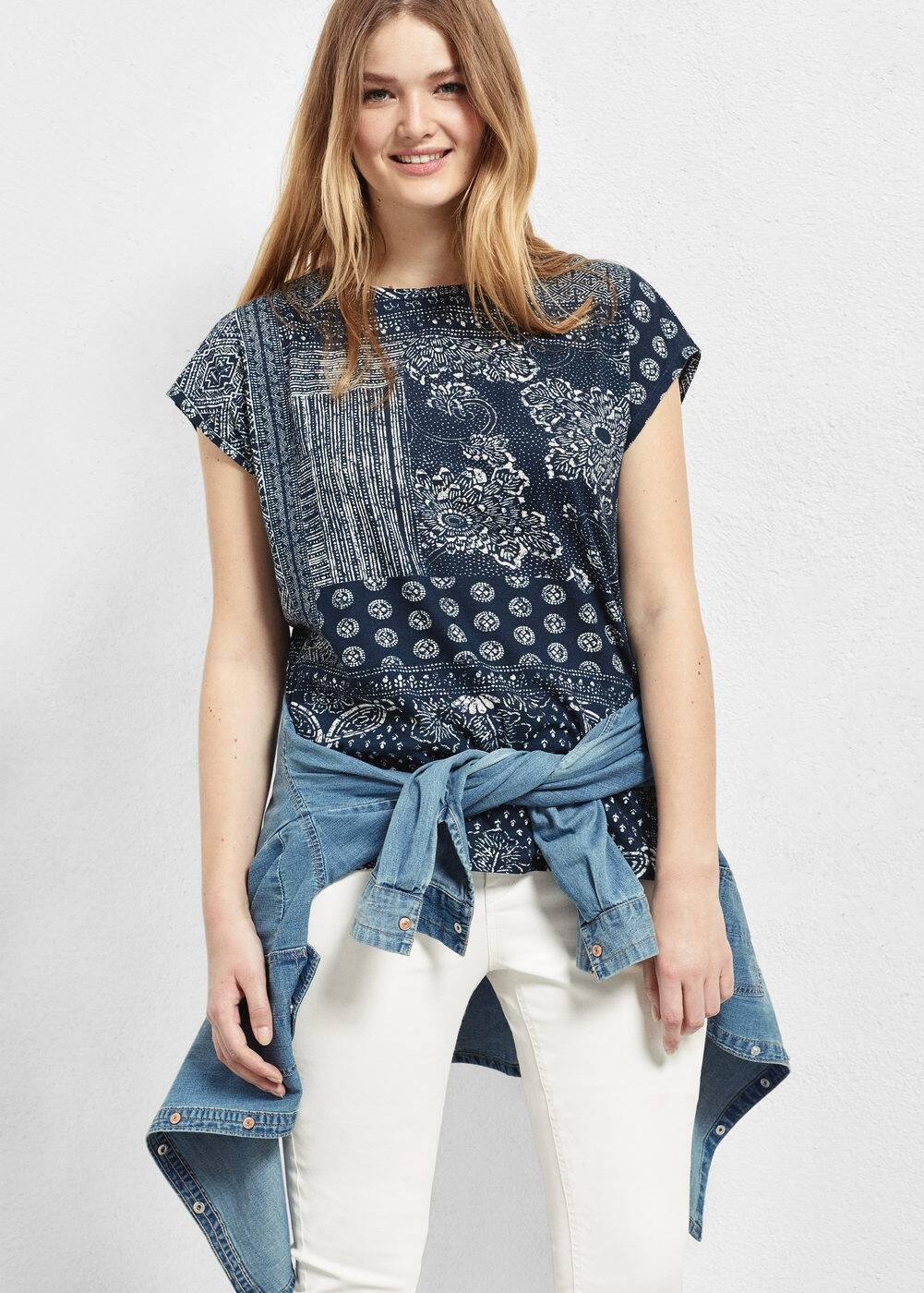 Printed cotton t-shirt   MANGO