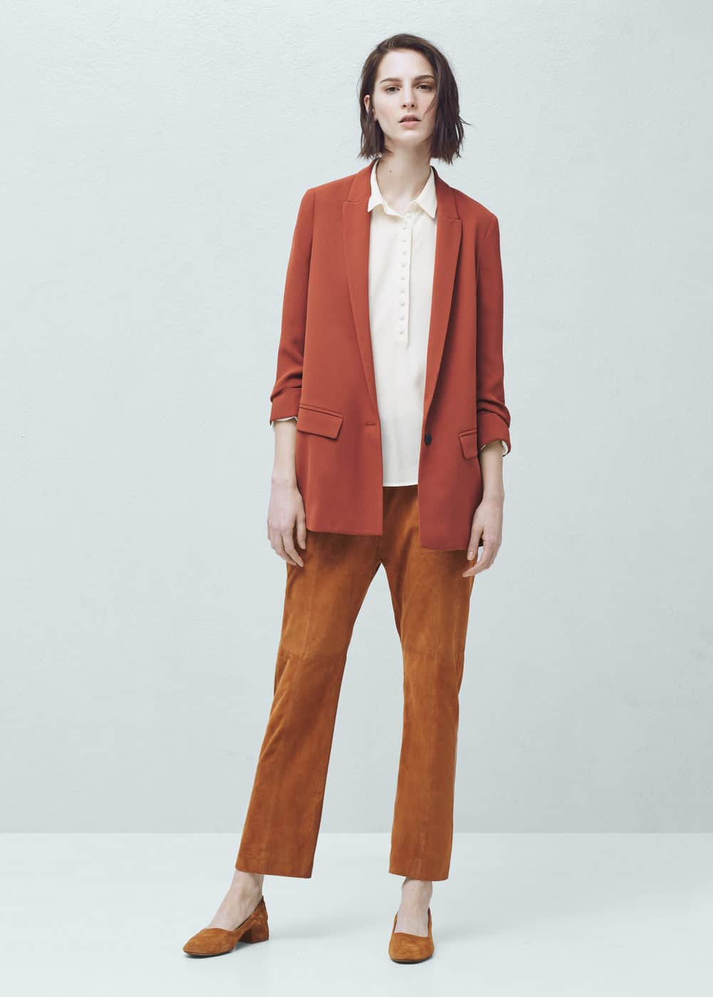 Ruched sleeves blazer | MANGO