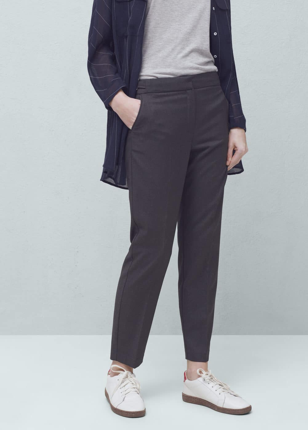 Decorative buckle trousers | MANGO
