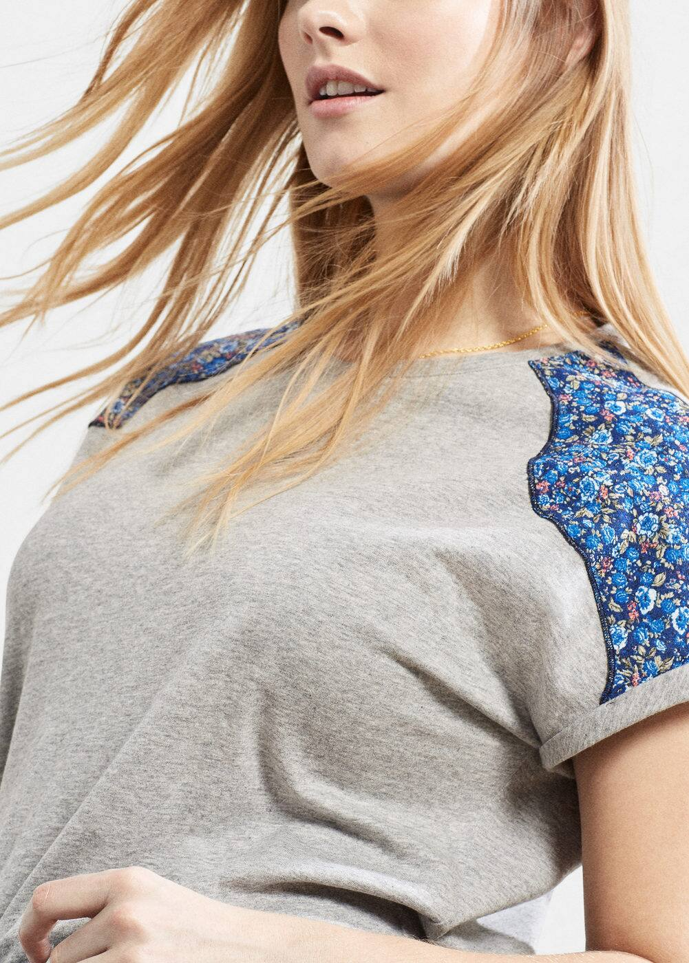 Message cotton t-shirt | VIOLETA BY MANGO