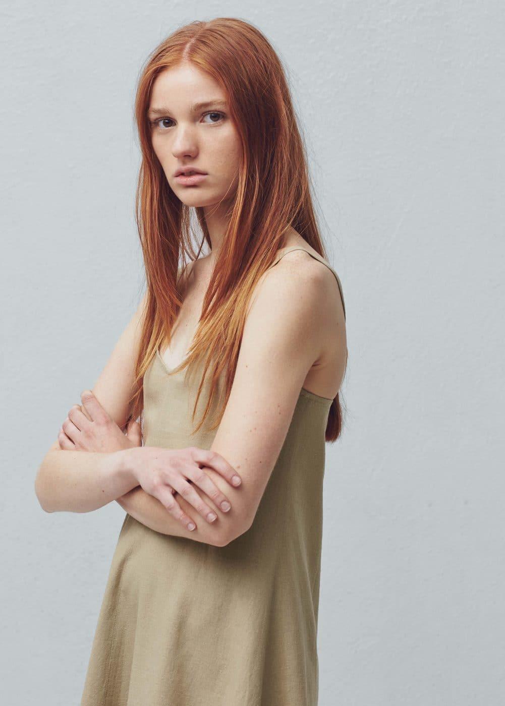 f80b4b33b8 Linen strap dress - Women