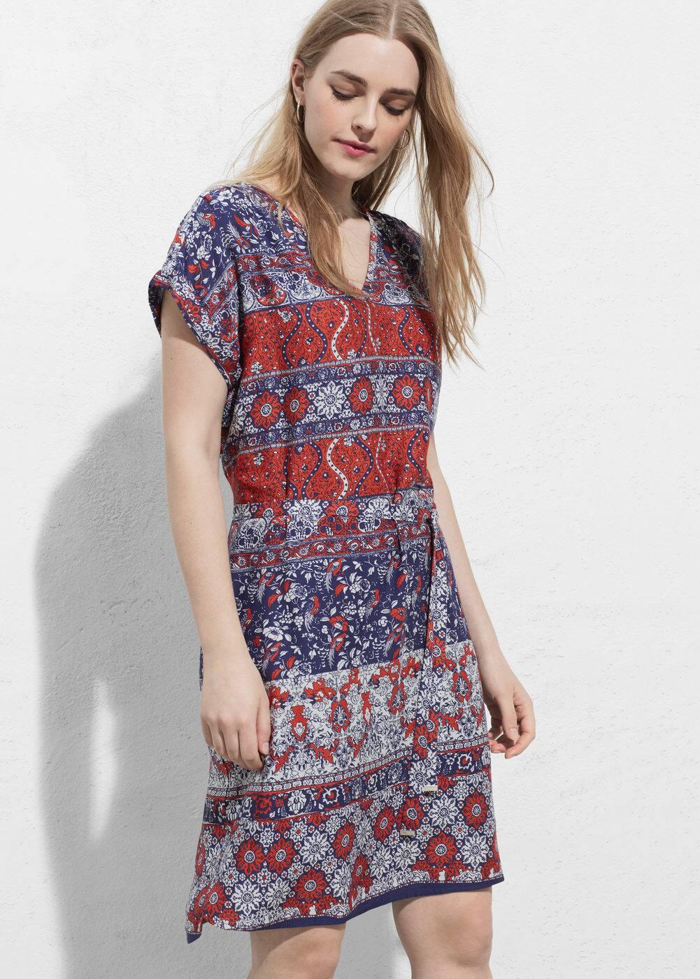 Contrasting print dress | VIOLETA BY MANGO