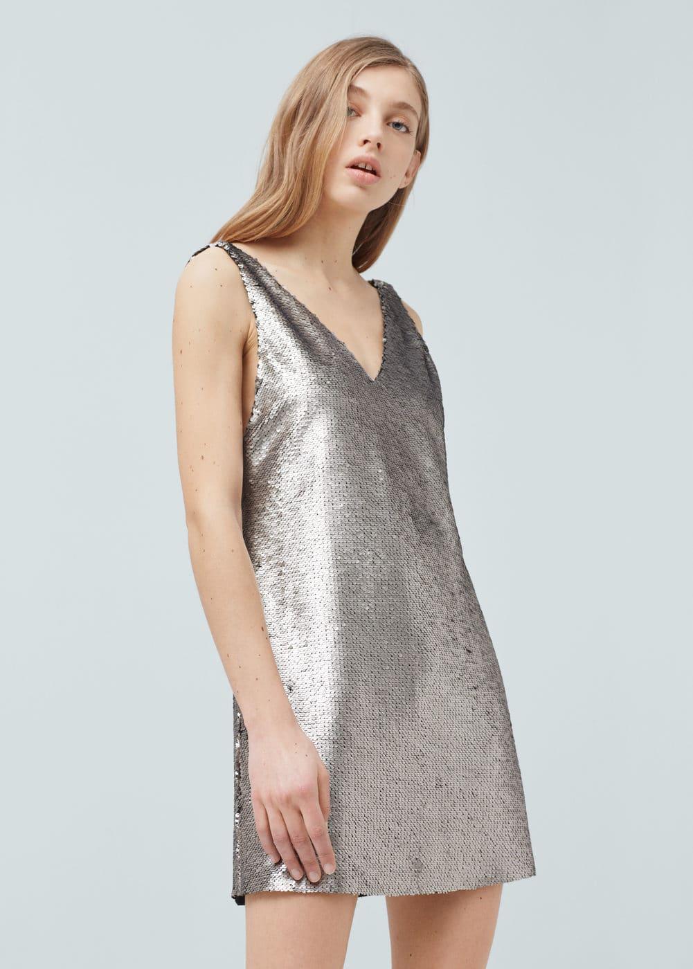 Sequined dress | MANGO