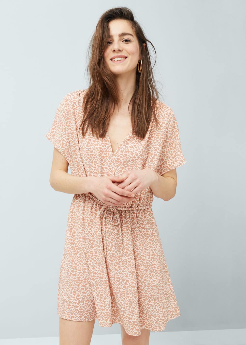 Drawstring waist dress | MANGO