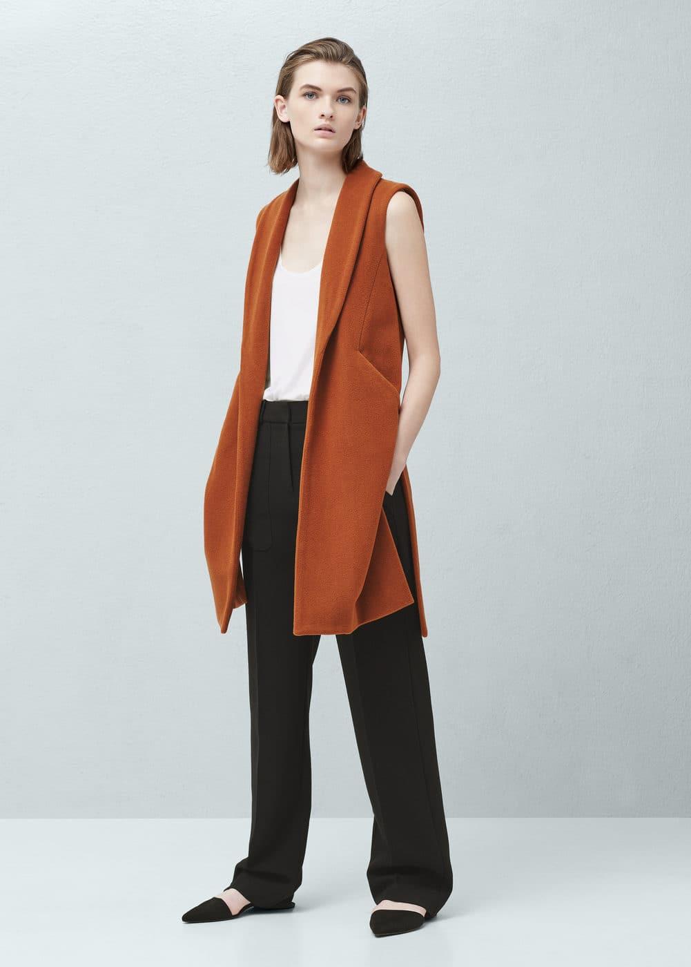 Side-pocket wool-blend waistcoat | MANGO
