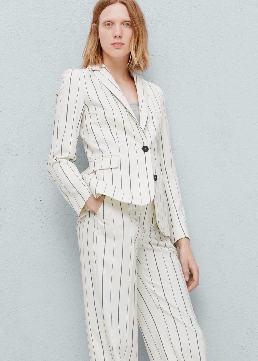 Pinstripe suit blazer | MANGO