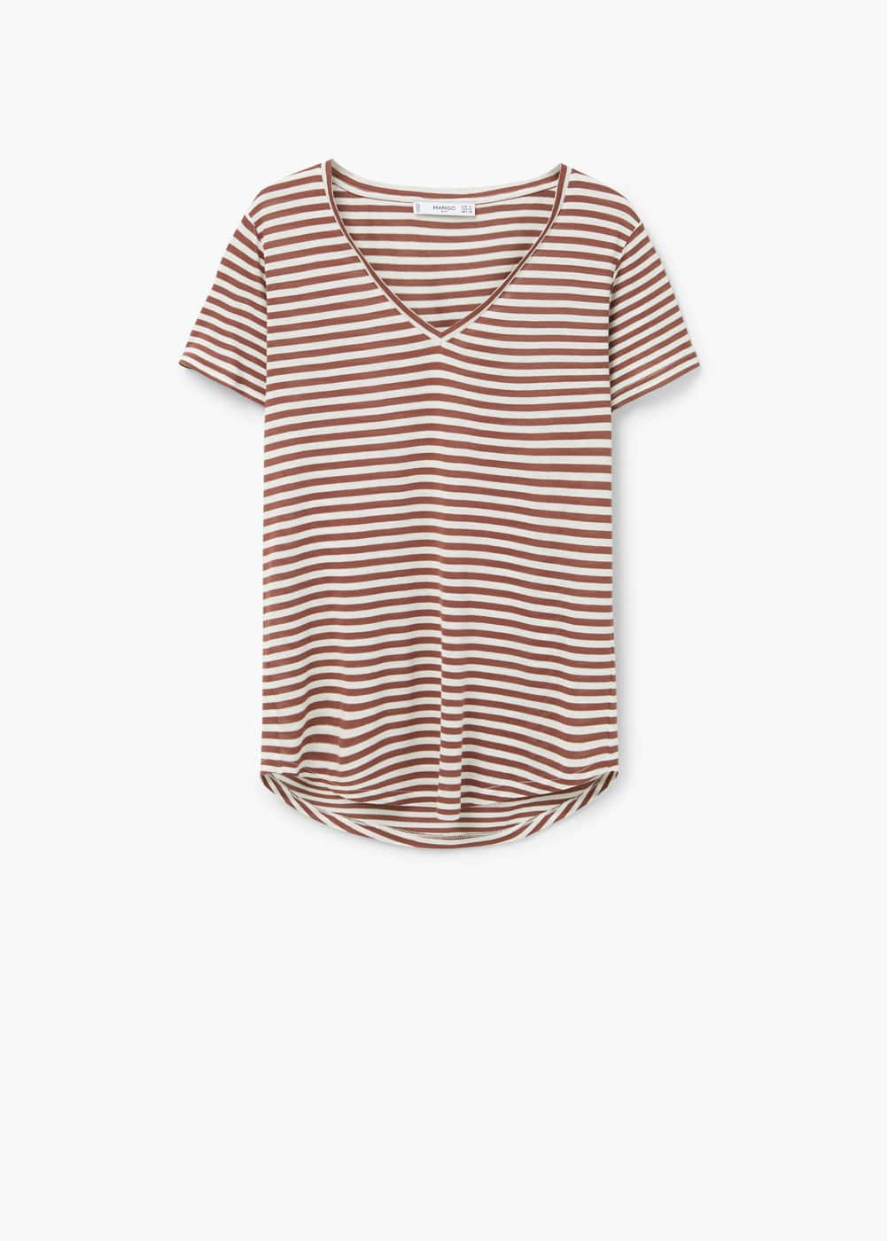 Striped bicolor t-shirt | MANGO