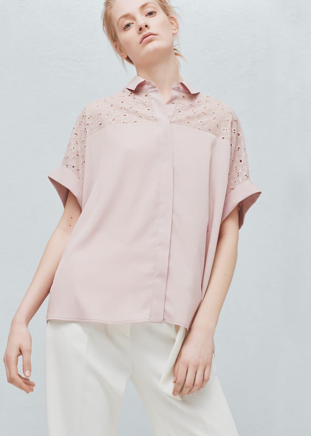 Embroidered appliqué blouse | MANGO