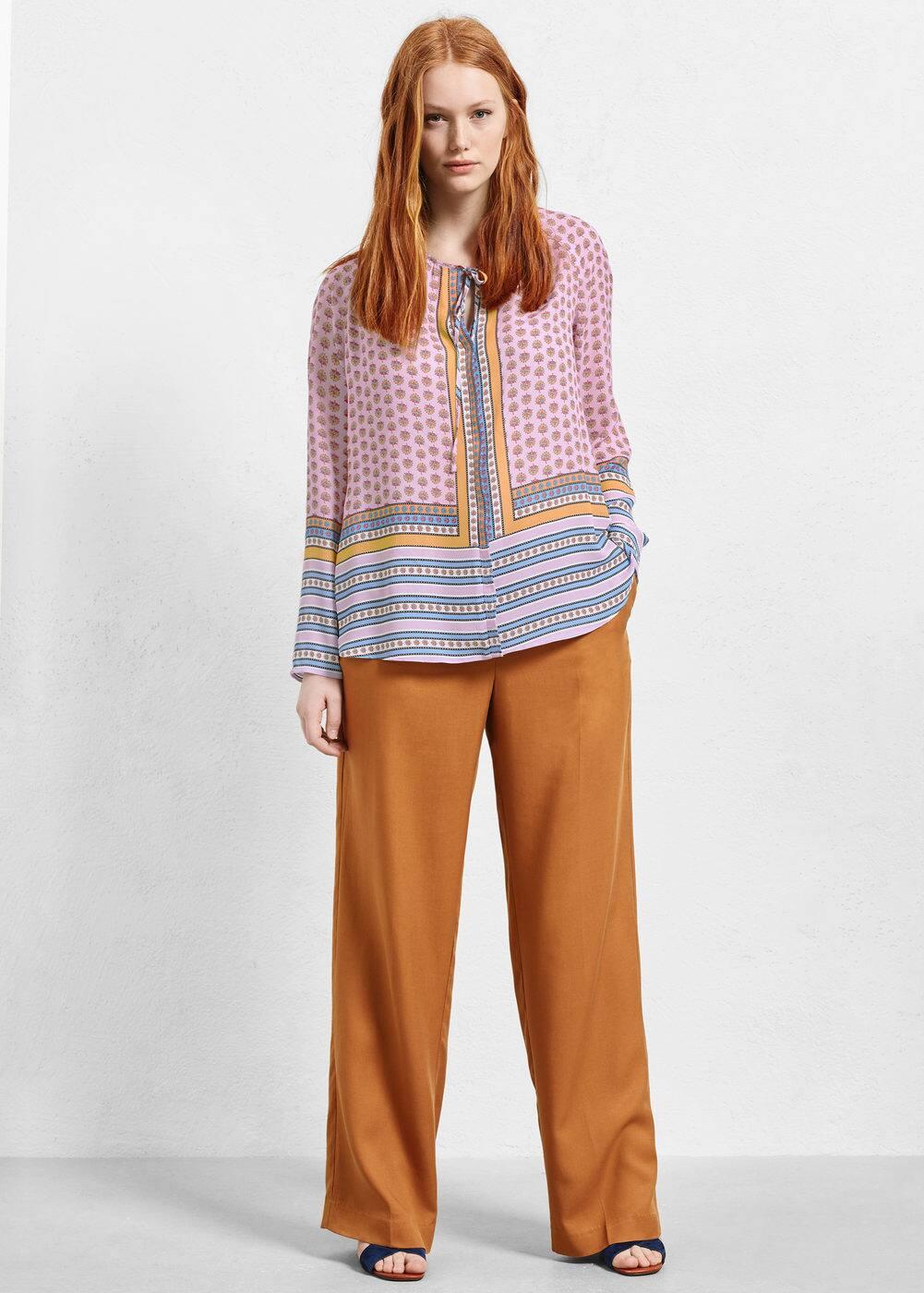 Contrasting print blouse | VIOLETA BY MANGO