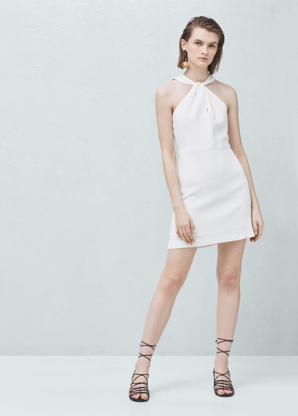 Halter neck dress | MANGO