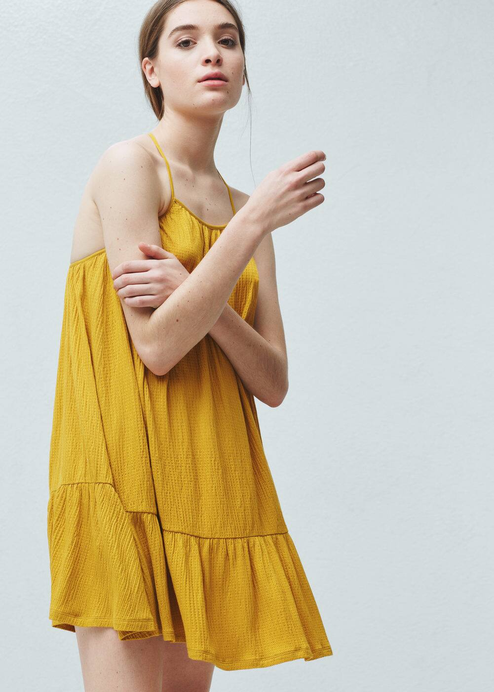 Textured strap dress | MANGO